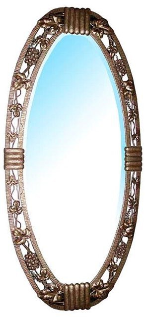122 Beautiful Oval Art Deco Wrought Iron Mirror