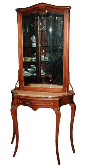 1296 French Console/Hall Piece with Beveled Mirror