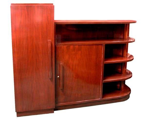 1405 Mahogany Art Deco Bookcase