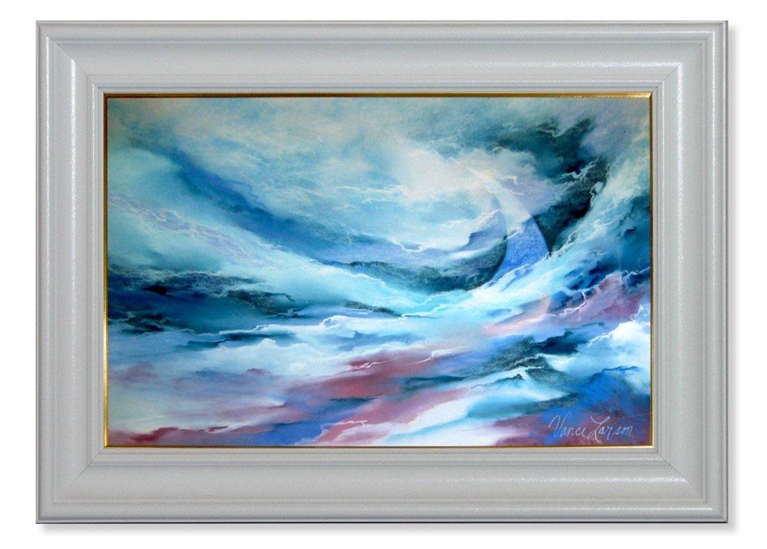 1414 Vance Larson Original Pastel in Acrylic Frame