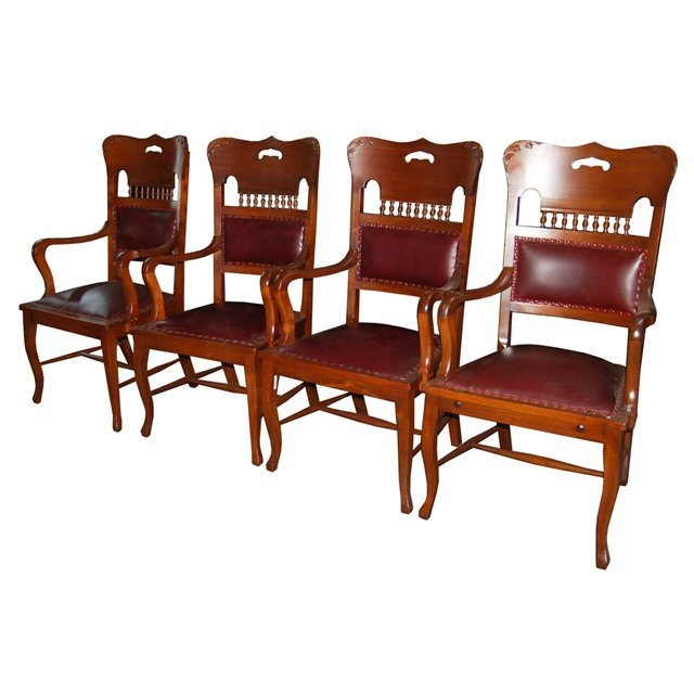 2127 Set of 4 Antique Arm Chairs