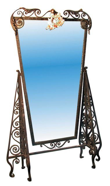 2507 Art Deco Wrought Iron Dressing Mirror