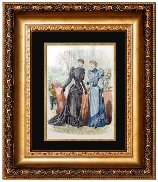 6835 Large Collection of Antique Fashion Prints