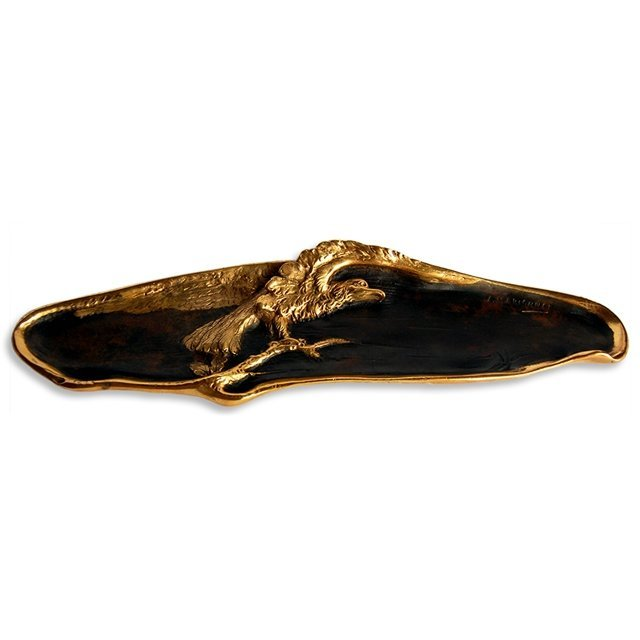 6806 Antique Bronze Pencil Plate with Eagle