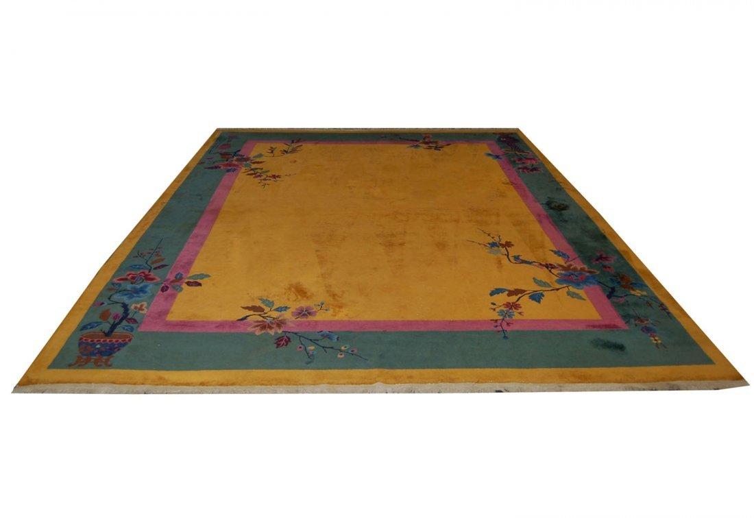 6476 Fabulous Vintage Chinese Art Deco Rug c. 1920