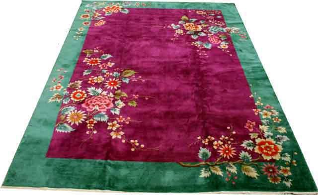 6938 Stunning Mint Condition Chinese Art Deco Rug