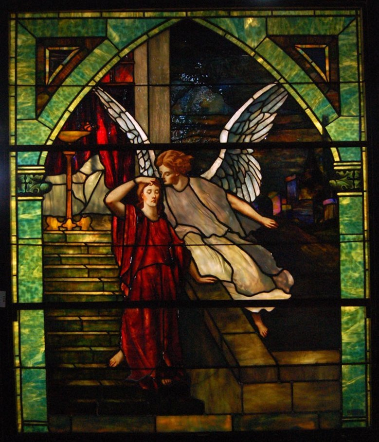 7546 Stained Glass Angel Windows Attr: Tiffany