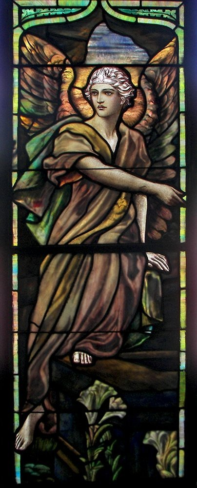 7262 LaFarge Jeweled Beveled & Stained Glass Window