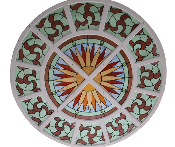 4817B Large Circular Stained Glass Window