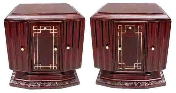 6318 Pair of Art Deco Nightstands