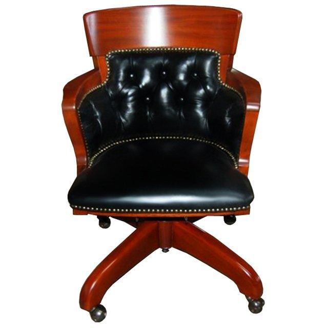2247 Antique American Mahogany Swivel Chair
