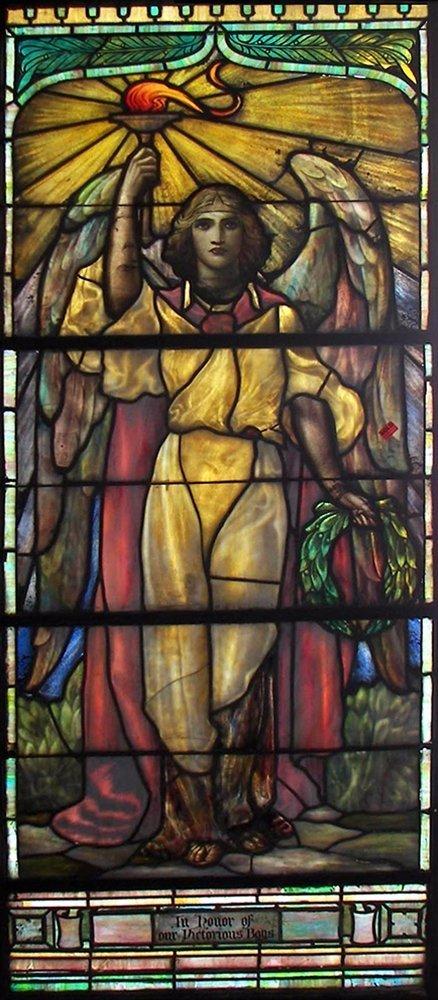 7261 LaFarge Jeweled Beveled & Stained Glass Window