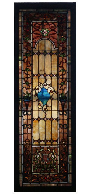 6955 Antique Leaded Stained Glass Window
