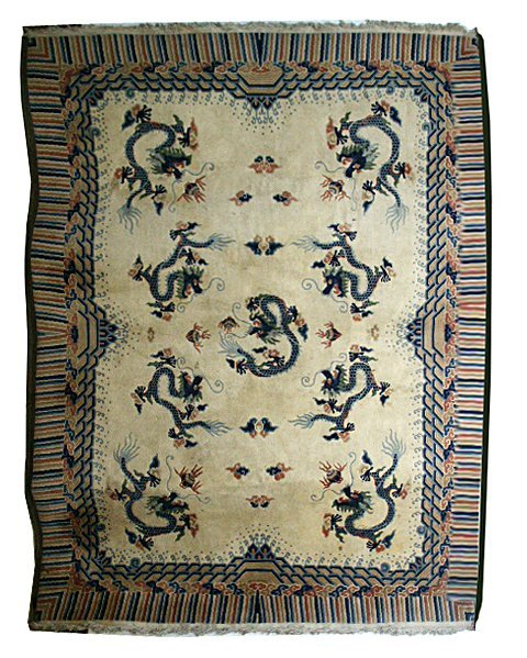 5843 Large Chinese Rug with Decorative Pattern