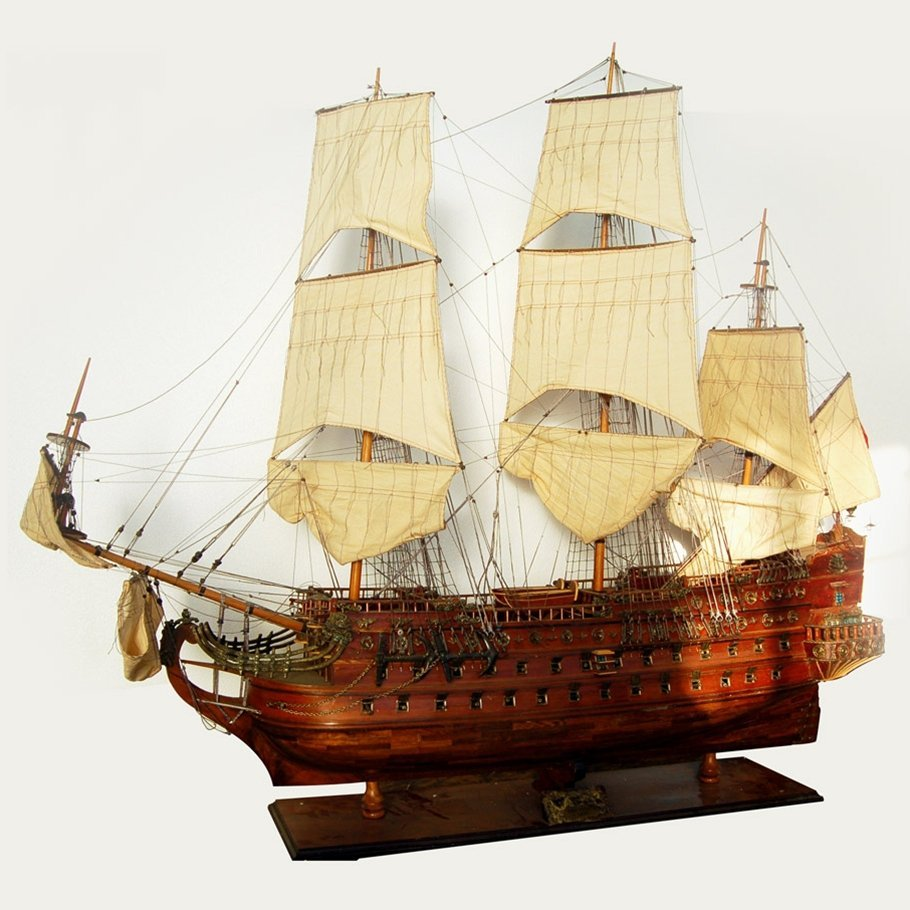 7570 Antique Ship Model of the HMS San Felipe - 1690