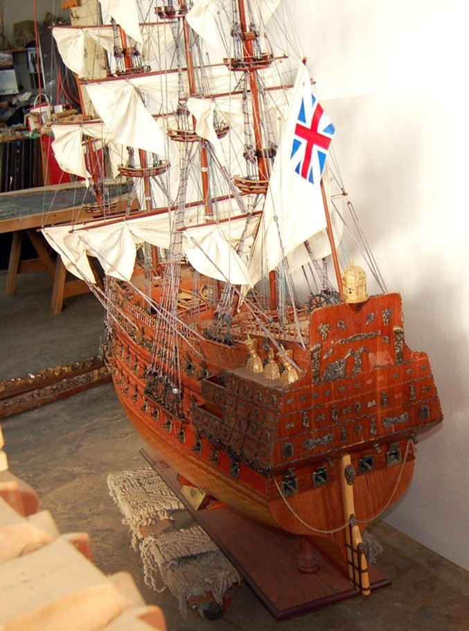 7557 Ship Model - The Sovereign of the Seas 1637 - 3