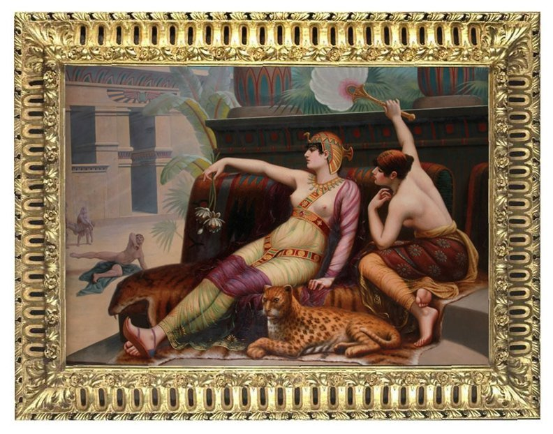 7688 6'x8' 19th C. Oil on Canvas Painting by Cabanel