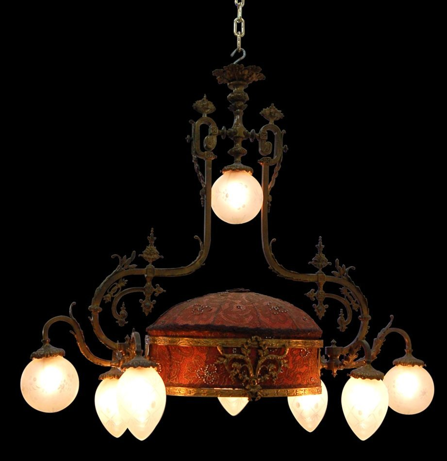 7654 Antique 19th C. French Rococo Chandelier
