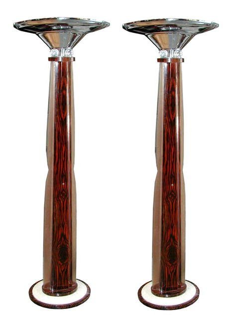 6033 Beautiful Pair of Rosewood Art Deco Torcheres