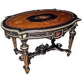 7277 Pottier & Stymus Renaissance Revival Inlaid Table