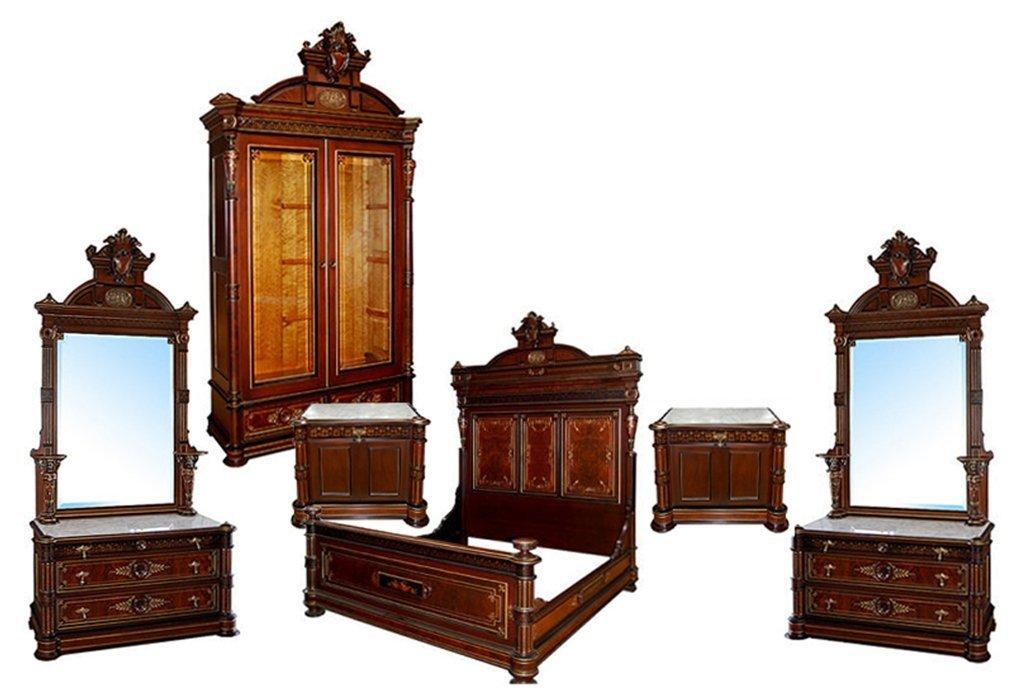 5879 Pottier & Stymus 6-Piece American Victorian Bedset