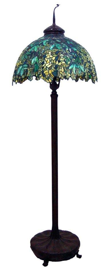 7523 Genuine Antique Tiffany Laburnum Floor Lamp