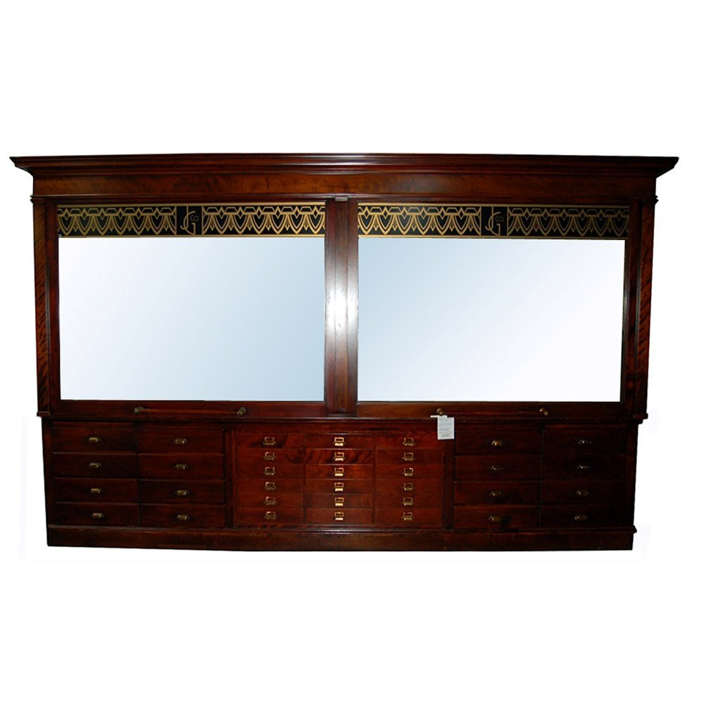 1853 Large 19th C. American Walnut Display Cabinet