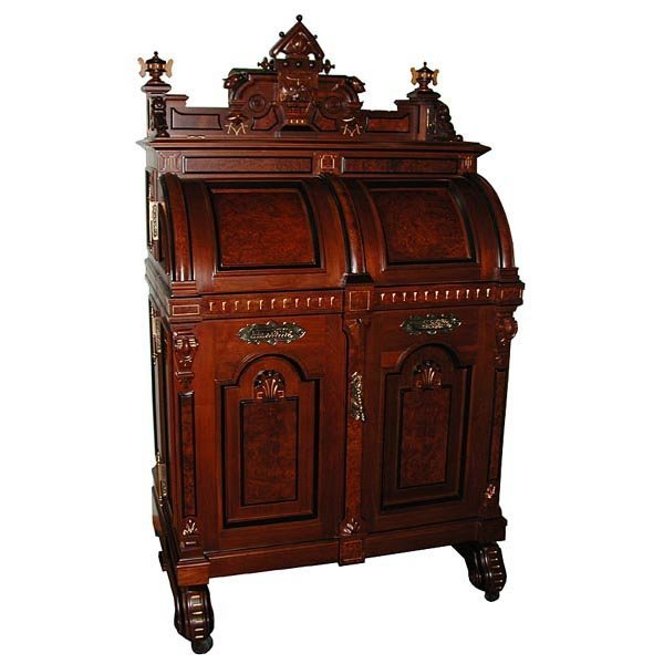 5675 Victorian Wooton Extra Grade Patent Secretary Desk