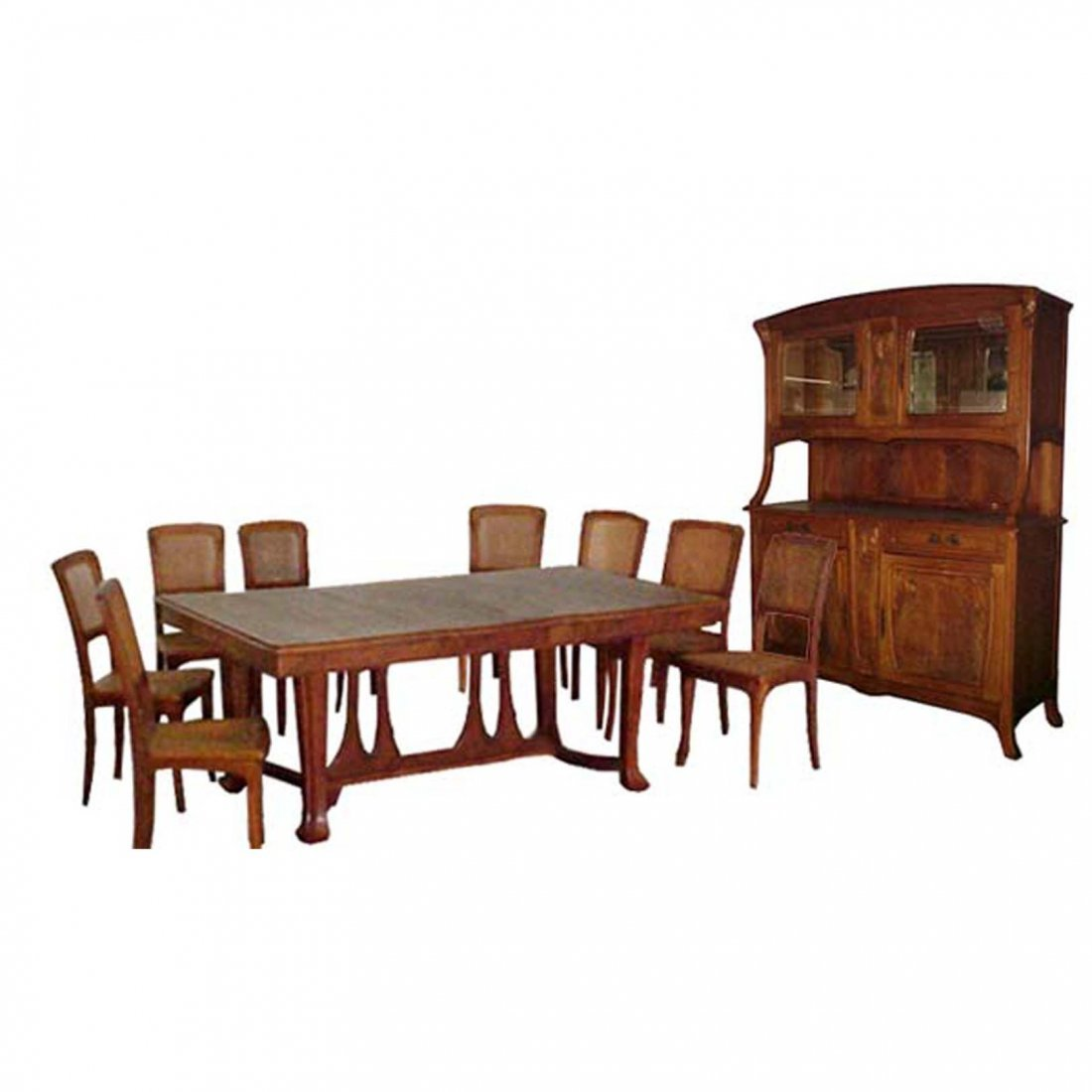 1183 French Art Nouveau Understated Dining Suite c.1900