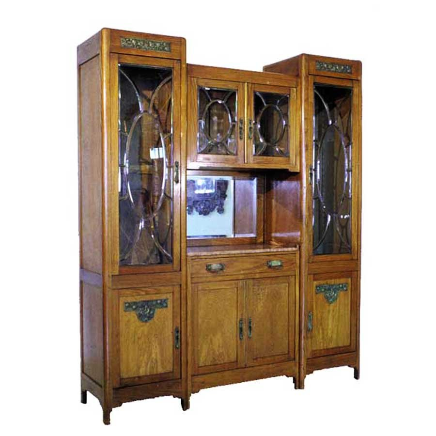 1227 Pair of Display Cabinets for Front and Back Bar