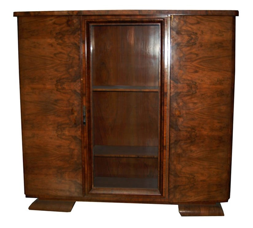 1407 French Art Deco Bookcase/Display Cabinet c.1930