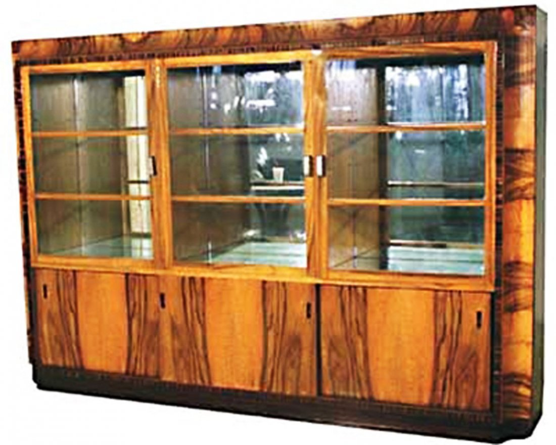 1408 French Art Deco Brazilian Rosewood Display/Bookcas