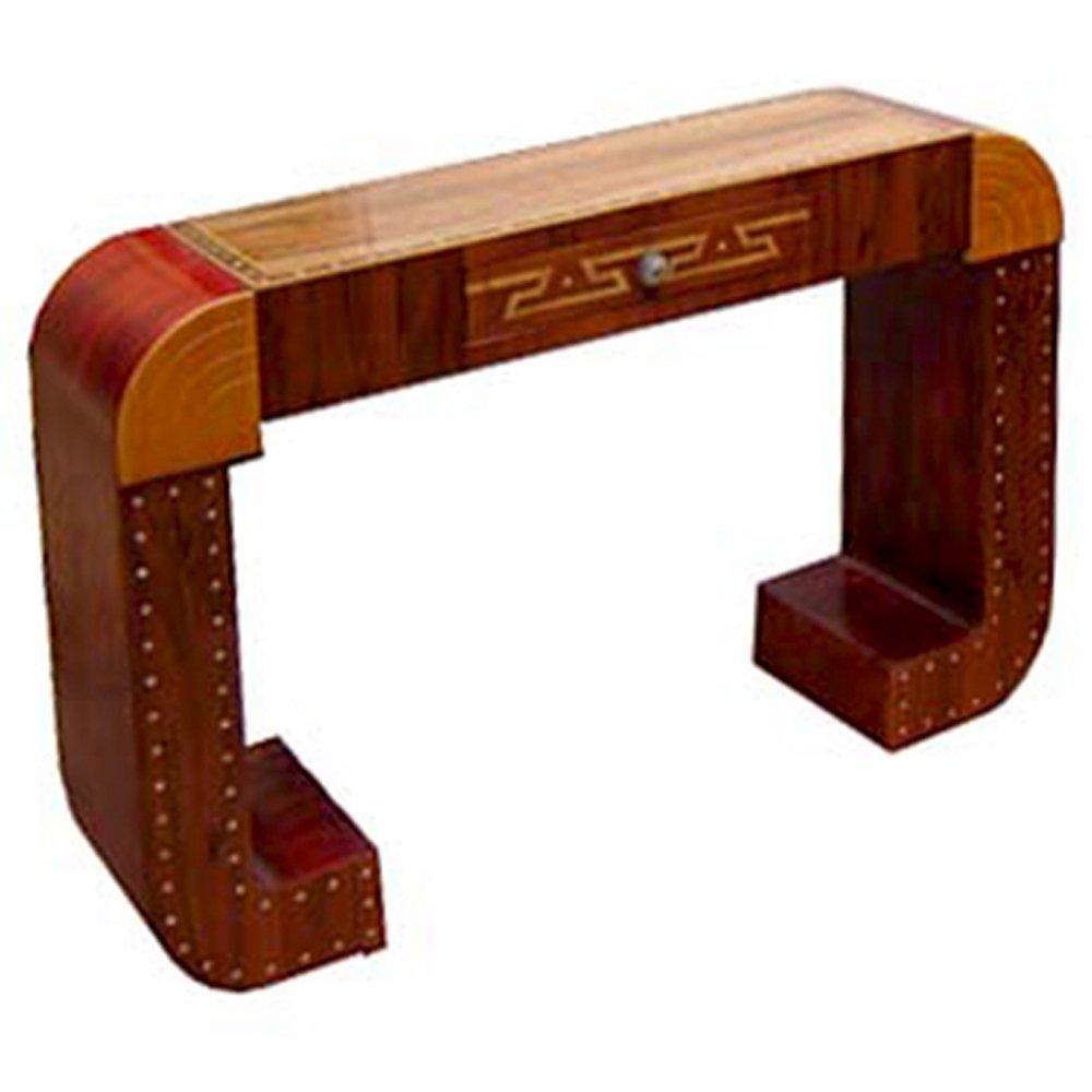 6715 Fabulous Inlaid Art Deco Console Table c. 1920