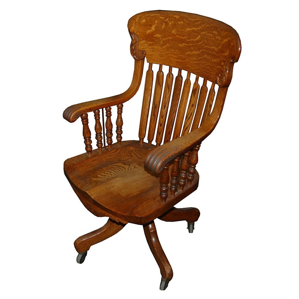 7538 Fantastic Oak Spindle Back Chair with Swivel Base
