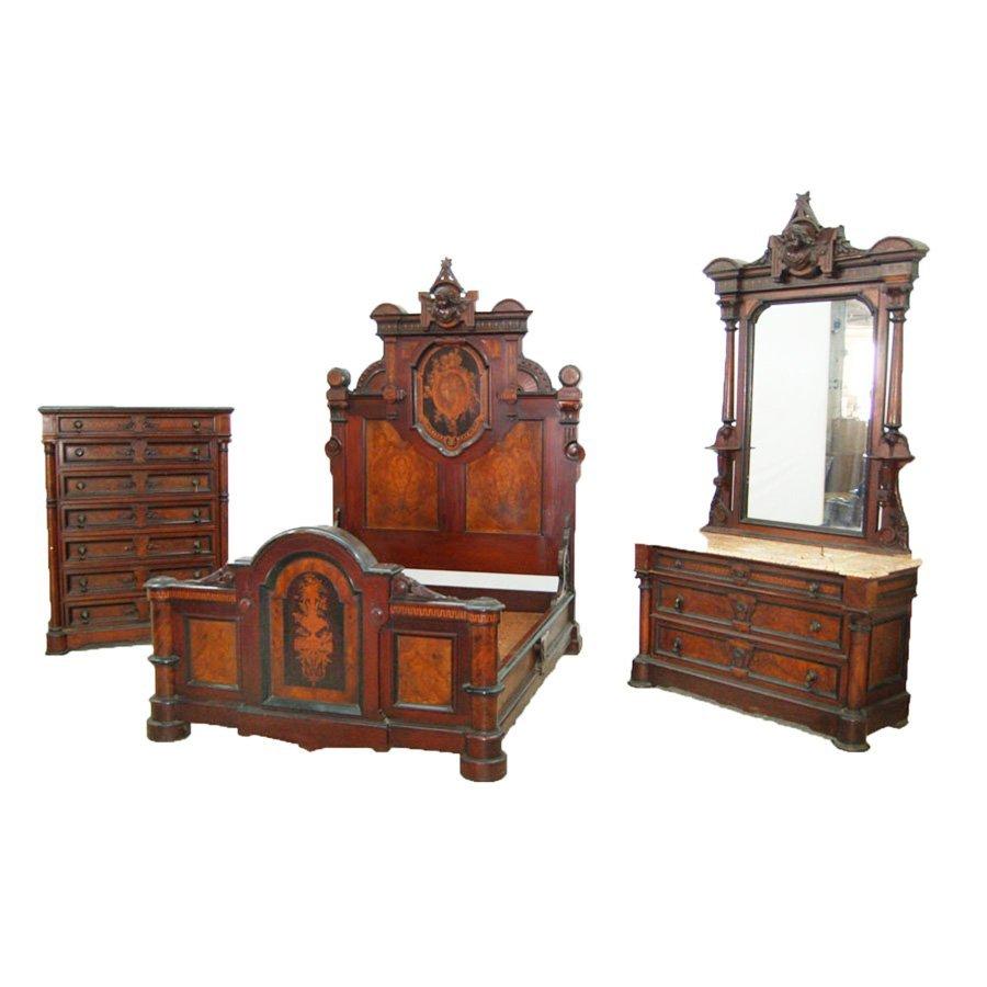7731 Original Condition Renaissance Revival Bedroom