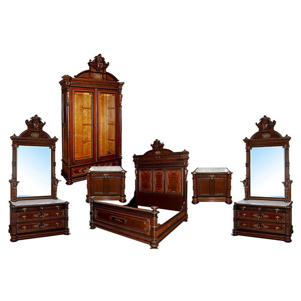 5879 6-Pce Victorian Bedroom Suite by Pottier & Stymus