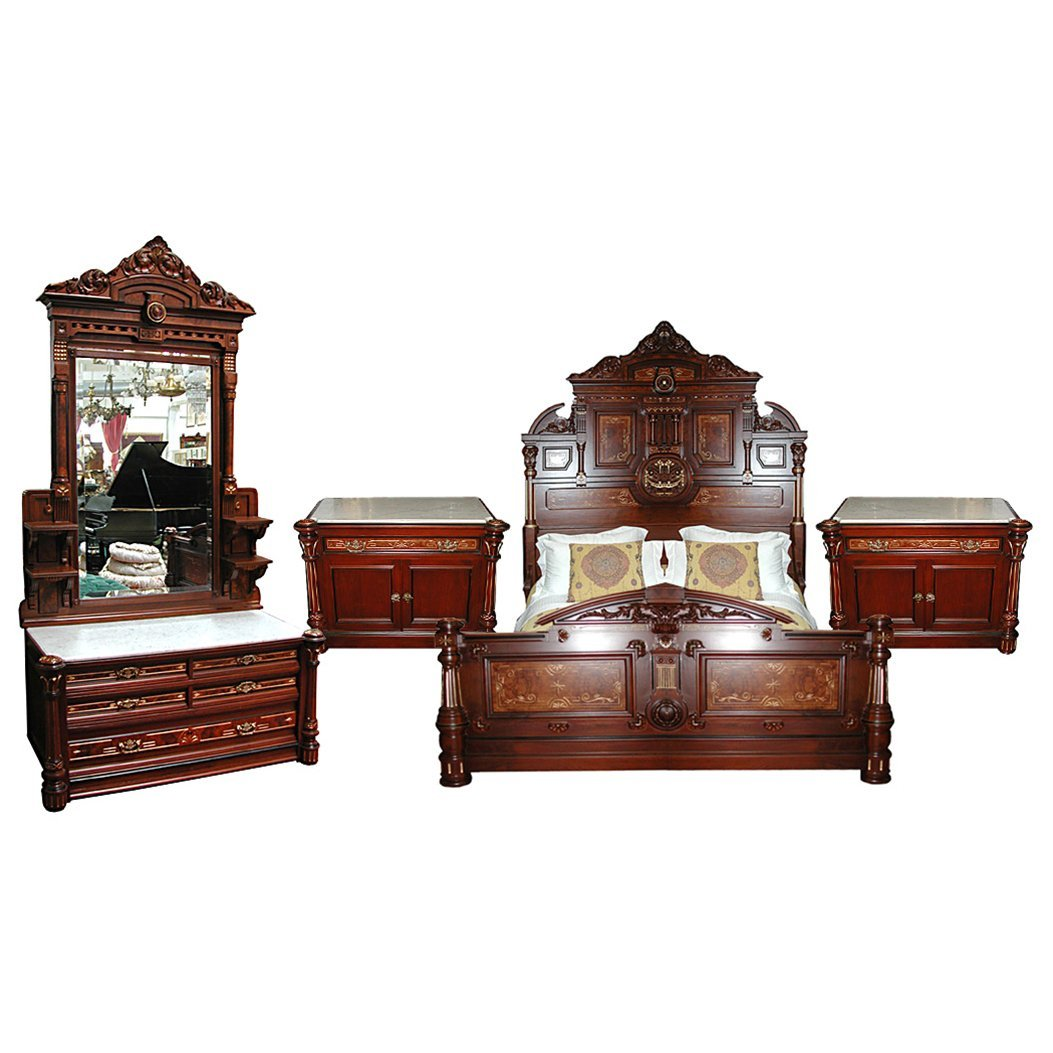 5023A 4-Pc. American Victorian Bedset by Thomas Brooks