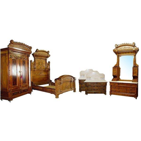 6324 5-Piece Aesthetic Movement Bedroom Suite c. 1880