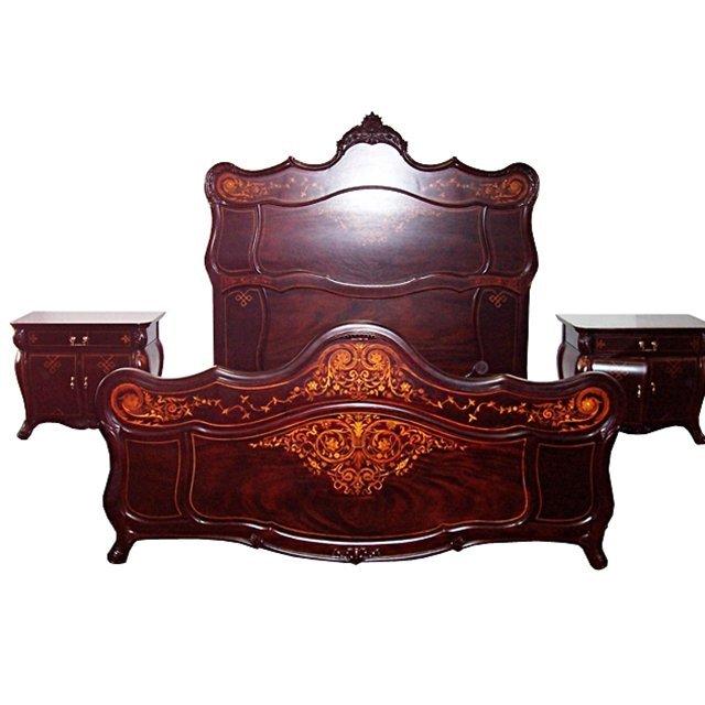 6144 R.J. Horner Mahogany 5 Piece Inlaid Bedroom Set