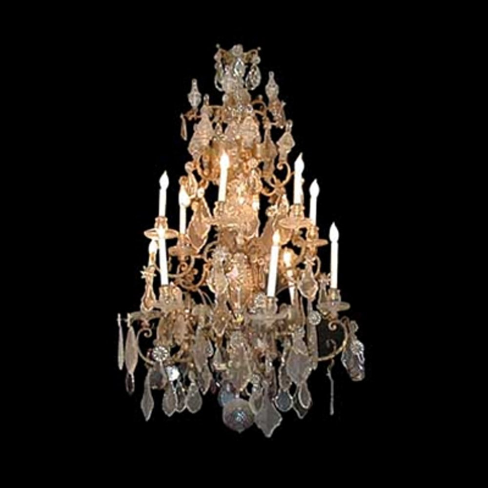 614 Magnificent Eary 19th C. Crystal Chandelier