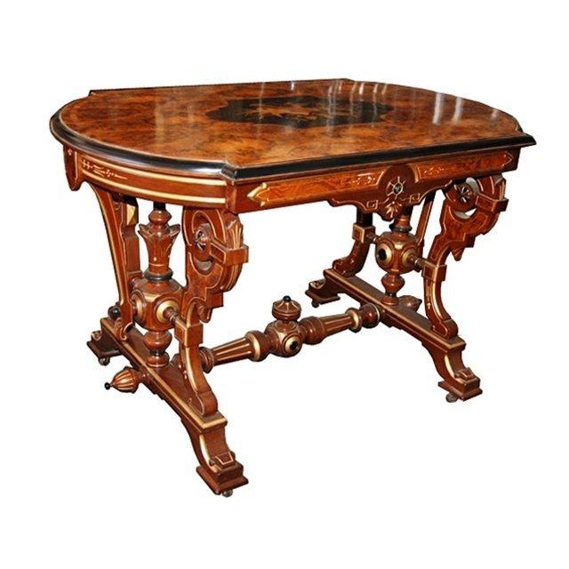 6118 Antique 19th C. Inlaid Table