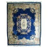 Large Chinese Rug with Decorative Pattern
