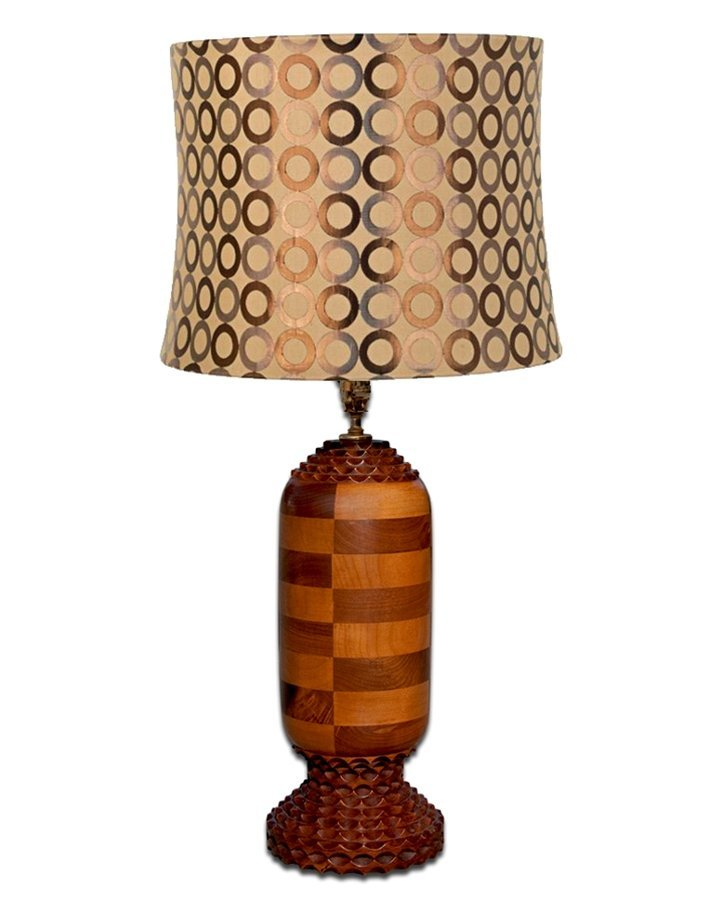 9829 Handcrafted Tramp Art Style Lamp by Alberry Dixon