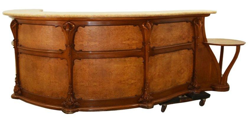 7806 Reception Desk, Art Nouveau Influenced
