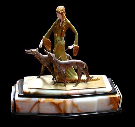 6370 Deco Sculpture The Aristocrats by Prof. Otto