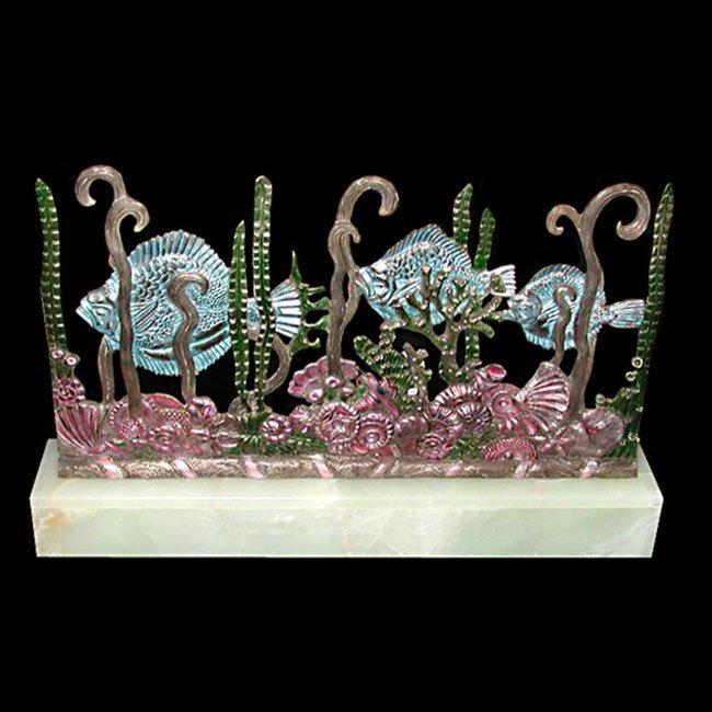 6375 Art Deco Sculpture Fish Screen by Edgar Brandt