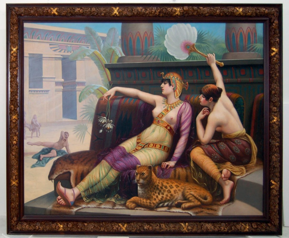 """7688 19th C. Study of  """"Cleopatra Testing The Poisons"""""""