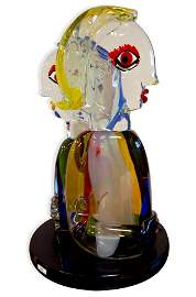 """6839 Murano Glass Sculpture """"The Pair"""" by Walter Furlan"""