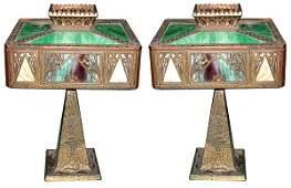 5916 Cast Bronze & Iron Table Lamp
