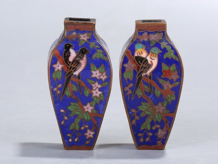 Chinese Republic of China Flower and Bird Bottle